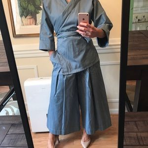 Reifhaus Leni Wrap bottoms & Ramona wrap blouse